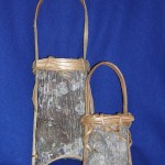 2 Poplar Bark Baskets