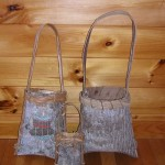 3 Poplar Bark Baskets